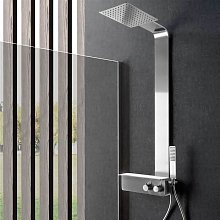 Weiss Stern - Pannello doccia Cervino acciaio inox