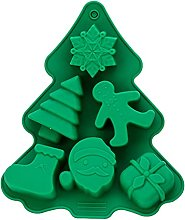 weixinbuy Christmas 6 con silicone torta stampo