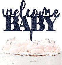 Welcome Baby - Topper per torta in acrilico per la