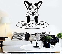 Welcome Lettering Wall Sticker Cane Cucciolo