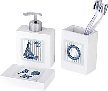 Wenko - Set accessori da Bagno in Poliresina Nautic