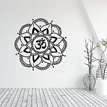 WERWN Adesivo murale Mandala Yoga Buddha Adesivo