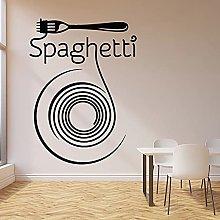 WERWN Spaghetti Decalcomania della Parete Pasta