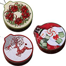 Weskjer Scatola di latta di Natale, 3 pezzi per