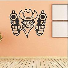 Western Cowboy Creativo Vinile Adesivo Complementi