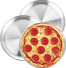 WEZVIX - Set di 3 teglie per pizza in acciaio