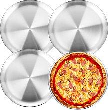 Wezvix, teglia per pizza in acciaio inox, 25,4 cm,