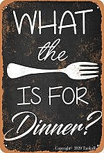 What The Is For Dinner Vintage Look Tin 20 x 30 cm