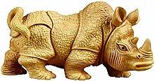 WHBDD Animale Scultura Rhino Statua Decorazione