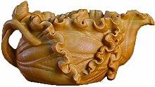 WHBDD Statua Ornament Figurina Lotus Teiera