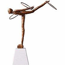 WHBDD Statua Ornamenti Sculture Balletto Girl