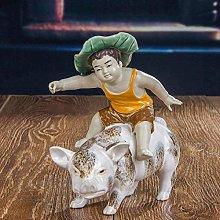 WHBDD Statua Ornamenti Sculture Ceramica Art