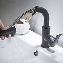 WHSS - Rubinetto in rame nero per lavabo, per
