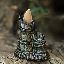 WICKER - Incenso a cascata in ceramica, diffusore