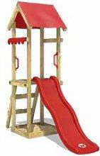WICKEY Parco giochi in legno TinySpot rosso Torre