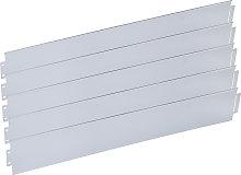 Wiltec - Bordura aiuola in metallo zincato 30