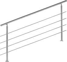 Wiltec - Ringhiera per scale acciaio inossidabile