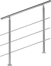 Wiltec - Ringhiera per scale in acciaio