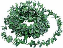 WINOMO, ghirlanda di edera con foglie verdi