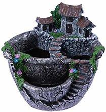 WINOMO Vaso da giardino, per fiori artificiali e