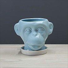 Wlnnes Animal Ceramica Vaso di fiori Cartoon