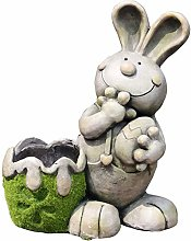 Wlnnes Carino coniglio decorazione esterna vaso di