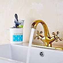 WNBNKSN Rubinetto Miscelatore lavabo Bagno Oro