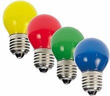 WOJ - 16 lampadine LED a goccia, colori assortiti,
