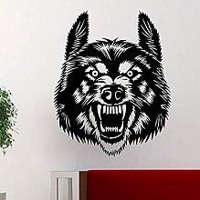 Wolf Face Animal Design Vinile Adesivo Home Decor