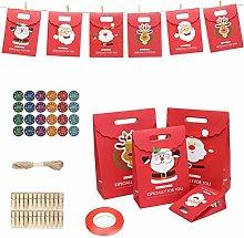 Wopohy - Confezione regalo natalizia, 24 scatole