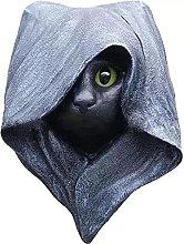 WORLDFYF Halloween Hood Gatto Statua Mistero Black