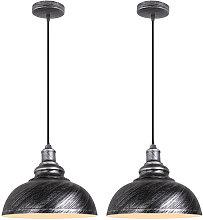 Wottes - 2 pezzi E27 lampadario in ferro battuto