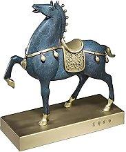 WQQLQX Scultura Bronzo Modello di Cavallo Scultura