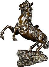 WQQLQX Scultura Decorazione Cavallo Bronzo