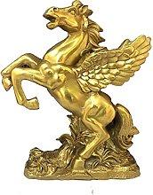 WQQLQX Scultura Pegasus Statuette Cavallo Statua
