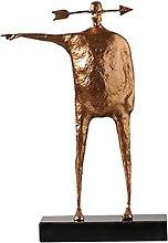 WQQLQX Scultura Statua di Arte Carattere Scultura