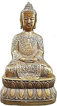 WQQLQX Scultura Statua in Bronzo di Sakyamuni