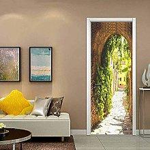 WSNDXZZ 3D Adesivo Arco di Pietra Porta della