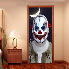 WSNDXZZ 3D Adesivo Halloween Fantasma Porta