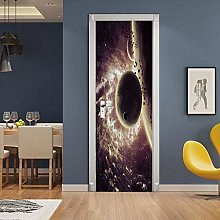 WSNDXZZ Adesivo 3D Universo Pianeta Adesivo Porta