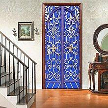 WSNDXZZ Adesivo murale 3D Adesivo Porta Blu