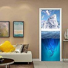 WSNDXZZ Adesivo murale 3D Stereo Iceberg riflesso