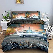 WTWE Set di biancheria da letto 3D con motivo