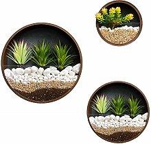 WUHUAROU Vaso da parete moderno per piante da