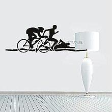 wwccy adesivo adesivo da parete atleta bicicletta
