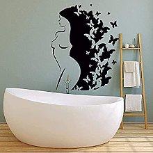 wwccy adesivo bagno vinile adesivo da parete