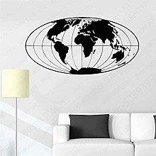 wwccy adesivo da parete 78X42 cm mappa del mondo a