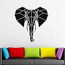 wwccy adesivo geometrico testa di elefante adesivo