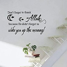 wwccy Sticker Islamico Wall Art Quotes