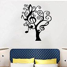 wwccy sticker music tree music note tree wall